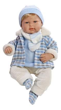 Кукла Arias Elegance мальчик в голубой курточке, 45 см