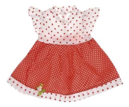 Платье красный цвет 25,5x36x1 см для кукол Junfa toys
