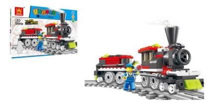 Конструктор пластиковый Wange Поезд 82 детали