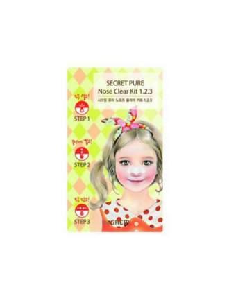 Патчи для очищения кожи the SAEM Secret Pure Nose Clear Kit 1.2.3 6 г