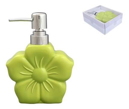 """Диспенсер 12*16 см, 400 мл, """"Цветок зеленый"""""""