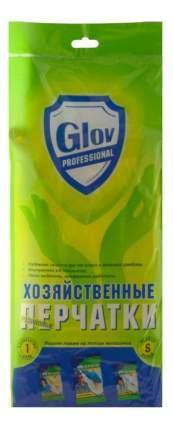 Перчатки хозяйственные Glov PROFESSIONAL резиновые, р-р S, 1 пара, желт