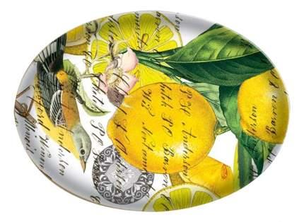 Мыльница стеклян, Лимон 16*12 см
