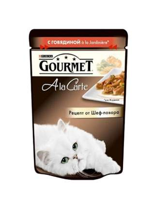 Влажный корм для кошек Gourmet A la Carte, говядина, овощи, 85г
