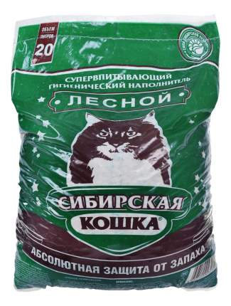 Наполнитель Сибирская кошка впитывающий, Древесный 20 л