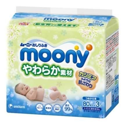 Салфетки влажные для детей Moony Запасной блок 240 шт.