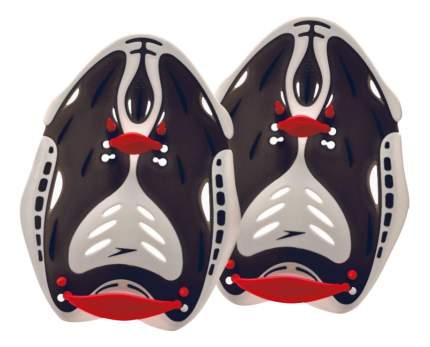 Лопатки для плавания Speedo Biofuse Power Paddle 8-731560 черные/серые/красные L
