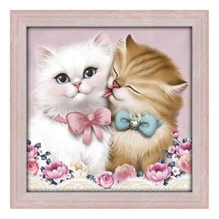 Алмазная живопись Кот и кошка АЖ-1296