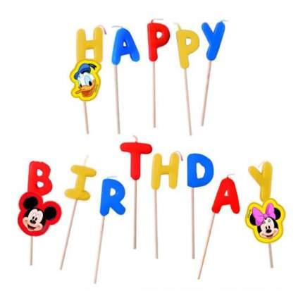 Свеча для торта PROCOS Микки Маус Happy Birthday