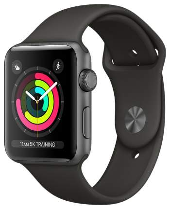 Смарт-часы Apple Watch Series 3 38mm Space Gray Al/Gray Band (MR352RU/A)