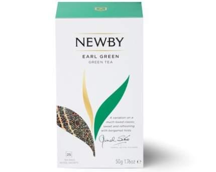 Чай зеленый Newby earl green с ароматом бергамота 25 пакетиков