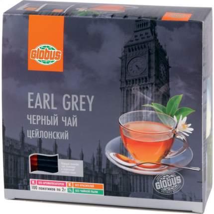 Чай черный Глобус earl grey 100 пакетиков