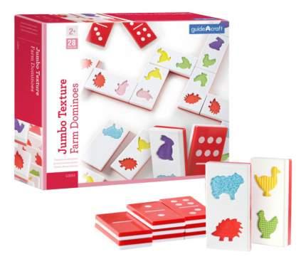 Семейная настольная игра Guidecraft Текстурное домино Ферма G5055