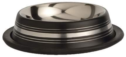 Одинарная миска для кошек и собак I.P.T.S, сталь, резина, в ассортименте, 0.18 л