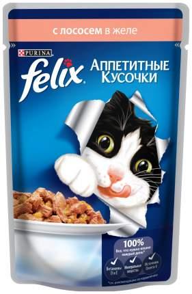 Влажный корм для кошек Felix Аппетитные кусочки, лосось, 24шт, 85г