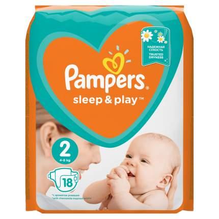 Подгузники Pampers Sleep&Play мини (4-8 кг) Ромашка 18 шт.