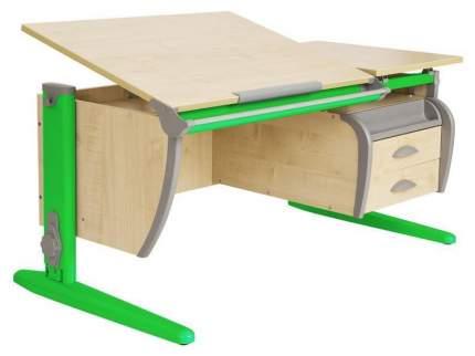 Парта Дэми СУТ 17-05Д2 с двумя двухъярусными задними и боковой приставками Зеленый 120 см