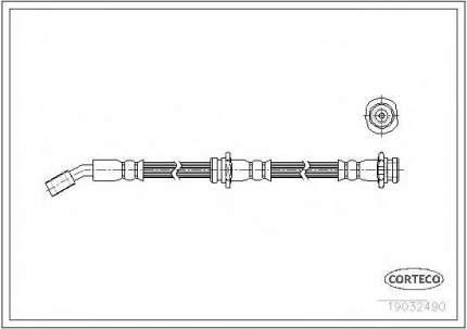 Шланг тормозной системы Corteco 19032490