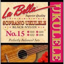 Струны для укулеле сопрано LA BELLA 15