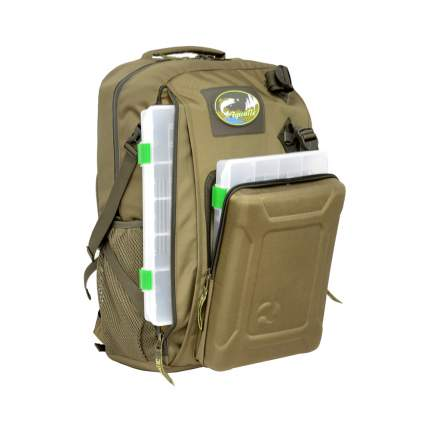 Рюкзак рыболовный с коробками Fisher Box Aquatic РК-02Х (Хаки)