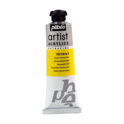 Акриловая краска Pebeo Artist Acrylics extra fine №2 светло-желтая ганза 37 мл
