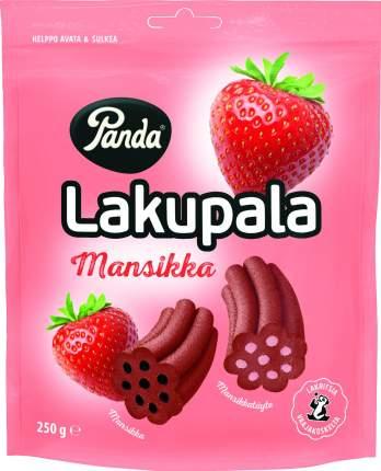 Конфеты лакричные Lakupala Panda с начинкой со вкусом клубники 250 г