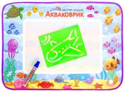 """Коврик для рисования водой """"Акваковрик"""" с разноцветными трафаретами, аквамаркер 1шт Tongde"""
