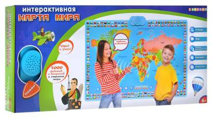 Интерактивный плакат ZanZoon Карта мира