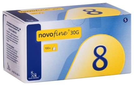 Иглы NovoFine для шприц-ручки 0,3 х 8 мм 100 шт.