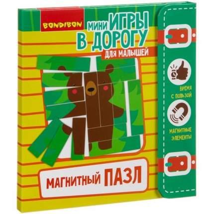 Компактные развивающие игры в дорогу  МАГНИТНЫЙ ПАЗЛ 3+