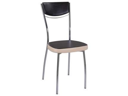 Кухонный стул Домотека Омега-4 Тёмный венге / бежевый (слоновая кость)