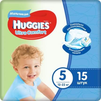 Подгузники Huggies Ultra Comfort для мальчиков 5 (12-22 кг), 15 шт.