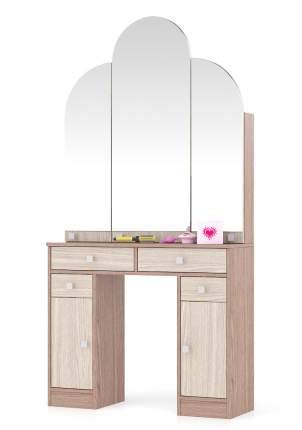 Туалетный столик Мебельный Двор №2 Трельяж ясень шимо светлый/тёмный 90х31х178 см