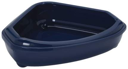 Лоток для кошек MODERNA Corner Tray с высоким бортом, синий, 55 х 45 х 13 см