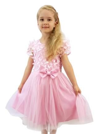 Платье нарядное Minavla Савелия розовое, размер 128