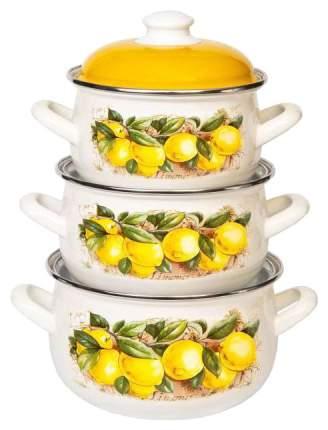 Набор кастрюль INTEROS Лимон 6шт