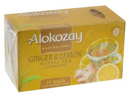 Чай травятной Alokozay имбирь и лимон 25 пакетиков