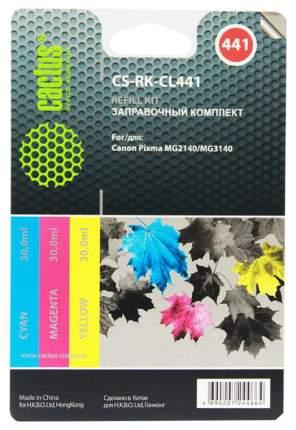 Заправочный комплект для струйного принтера Cactus CS-RK-CL441 голубой; желтый; пурпурный