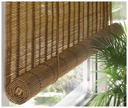 Рулонная штора Эскар Ballard 160х160 цвет коричневый