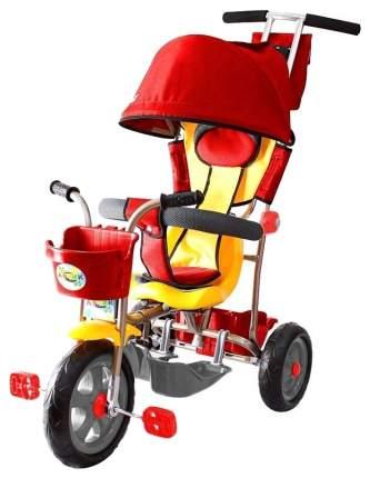 Велосипед трехколесный Galaxy Лучик с капюшоном красный