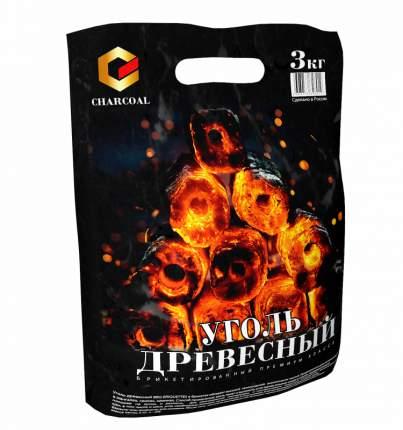 Брикетированный уголь CHARCOAL 3,0 кг