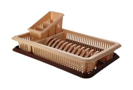 Отдельностоящая сушилка для посуды Plastic Centre ПЦ1562 Бежевый