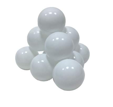 Шарики в наборе для игрового бассейна 50 шт, диам 7см, белые