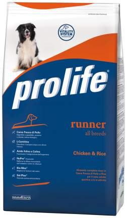 Сухой корм для собак Prolife Runner All Breeds Chicken & Rice, курица, рис, 12кг