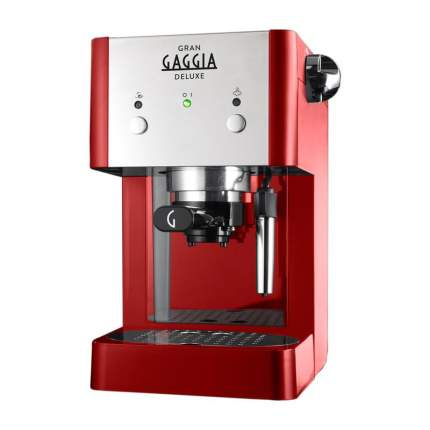 Рожковая кофеварка Gaggia Gran De Luxe RI8425/22 Red