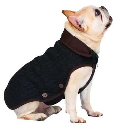 Куртка для собак Dog Gone Smart размер L унисекс, серый, длина спины 40 см