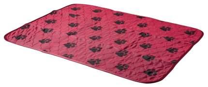 Пеленки для домашних животных V.I.Pet Многоразовая пеленка-коврик 60 х 40 см бордовая