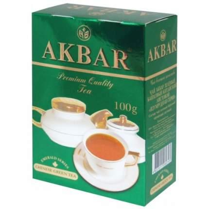 Чай зеленый листовой Akbar изумрудная серия 100 г