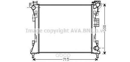 Pадиатор системы охлаждения Chrysler Grand Voyager 08 Ava CR2104