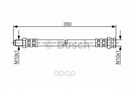 Шланг тормозной системы Bosch 1987481311 задний